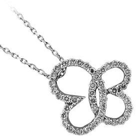 Diamant Collier Butterfly Weißgold 750