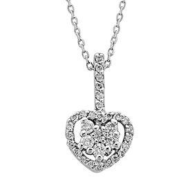 Diamant Herz Collier 0,22 ct Weißgold 750