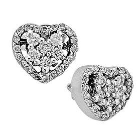 Diamant Ohrstecker Herz 0,40 ct Weißgold 750