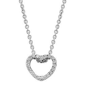 Diamant Herz Collier Weißgold 750