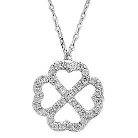 Diamant Collier Kleeblatt 0,32 ct Weißgold 750
