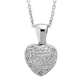 Diamant Herz Collier 0,18 ct Weißgold 750