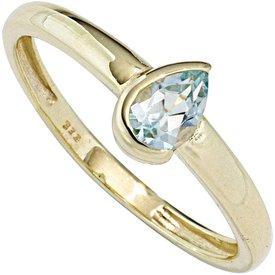 Blautopas Ring Gelbgold 333