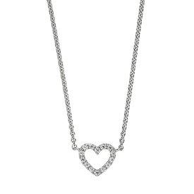 Silber-Collier Herz mit Zirkonia