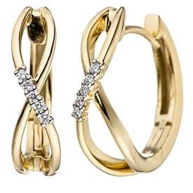 Diamant Creolen Infinity Gelbgold