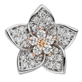 Diamant Anhänger Blüte 585 Gold bicolor