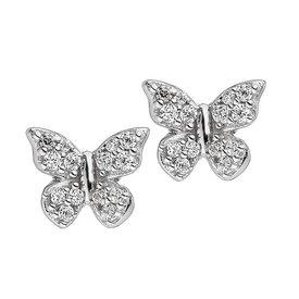 Ohrstecker Schmetterling  Zirkonia 925 Silber