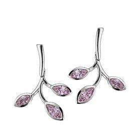 Ohrhänger 925 Silber rosa Zirkonia