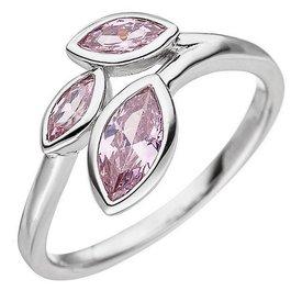 Silber Ring mit Rosa Zirkonia