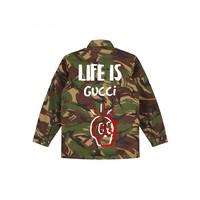 Vintage Army Life Skull Jacket