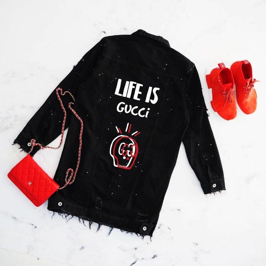 Life Skull Jeans Jacket