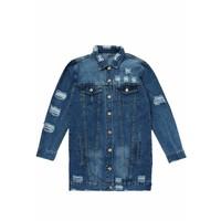Jeans Jacket Stripe
