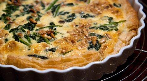 Makkelijke quiche met spinazie en geitenkaas