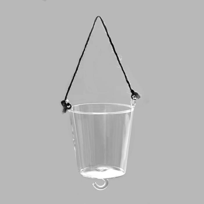 Glazen hangpot