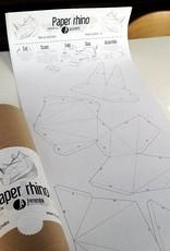 Papieren neushoorn / Grijs