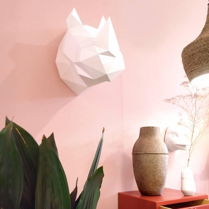 Paper Kit / Neushoorn / Wit