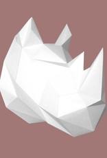 Papieren neushoorn / Wit