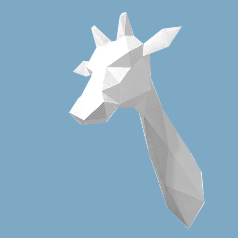 Paper Kit / Giraffe / White