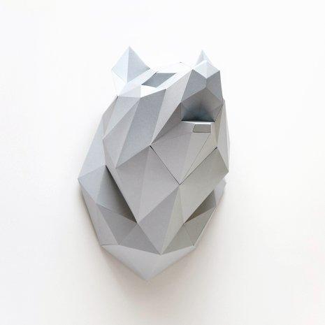 Papieren Wolf / Grijs