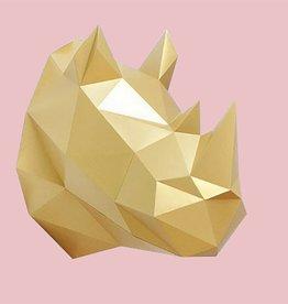 Paper Kit / Neushoorn / Goud