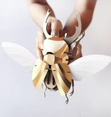 Paper Beetle / Stag / Goud