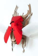 Paper Beetle / Stag / Rood
