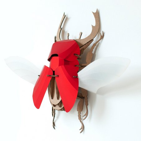 Paper Beetle / Stag / Red