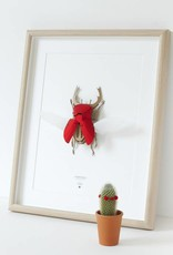 Papieren kever / Stag / Rood