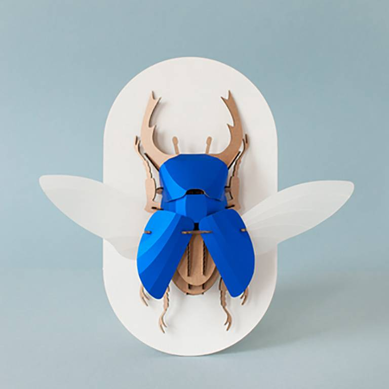 Paper Beetle / Stag / Blue