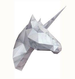 Papieren eenhoorn & paard / Marmer