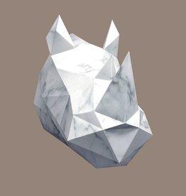 Papieren neushoorn / Marmer