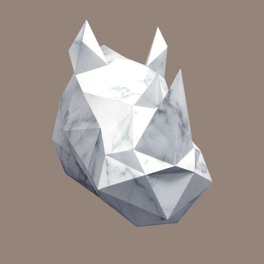 Paper Kit / Rhino / Marble