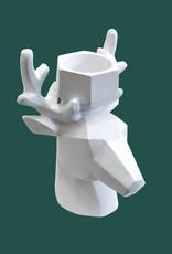 Tealight Holder / Deer / White