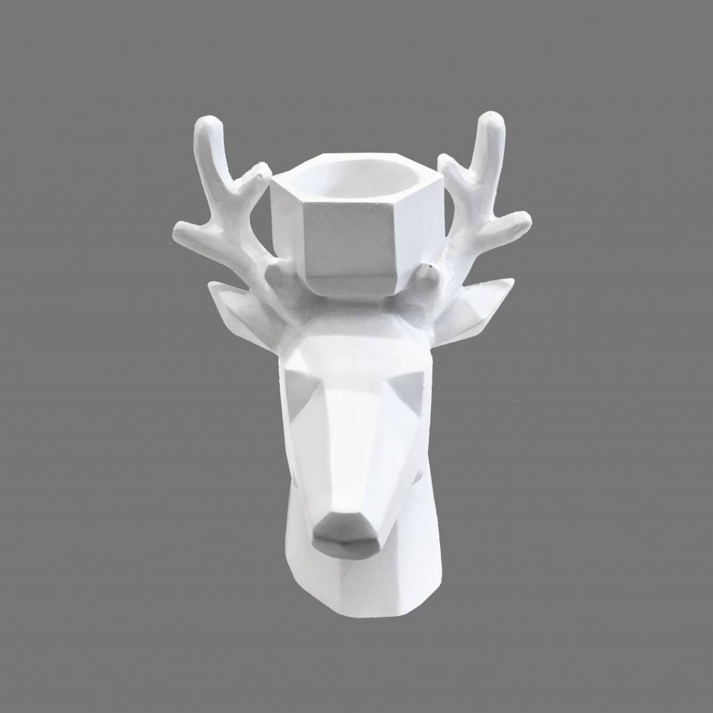 Theelicht / Deer / Wit