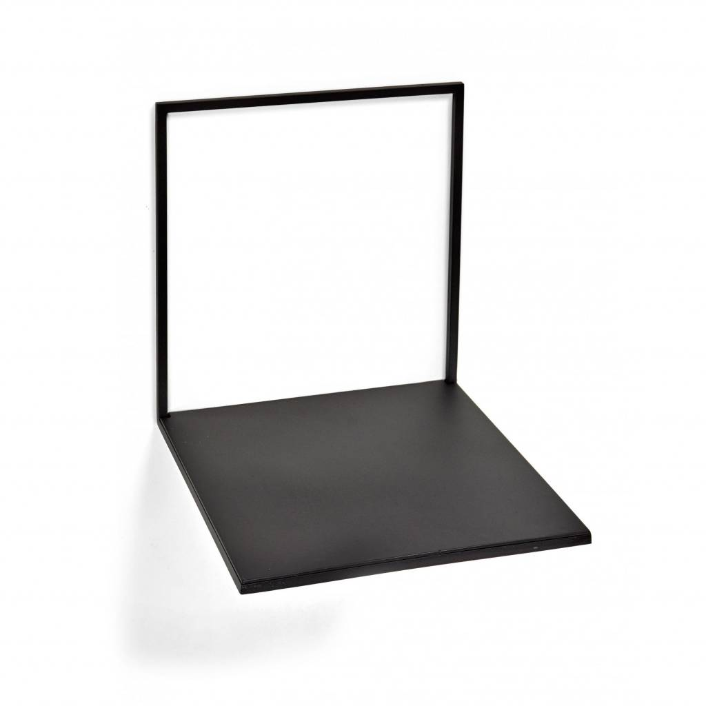 Metal wall shelve / Black / L