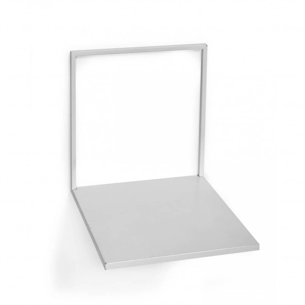 Metal wall shelf / White / L