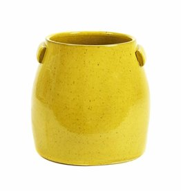 Gele plantenpot / M