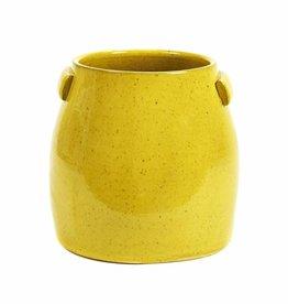 Gele plantenpot