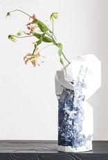 Paper Vase / Delft Blue