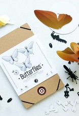 Papieren Vlinders / Blauw