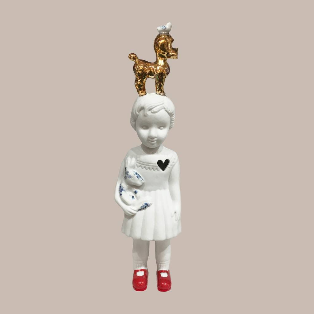 Doll with poodle