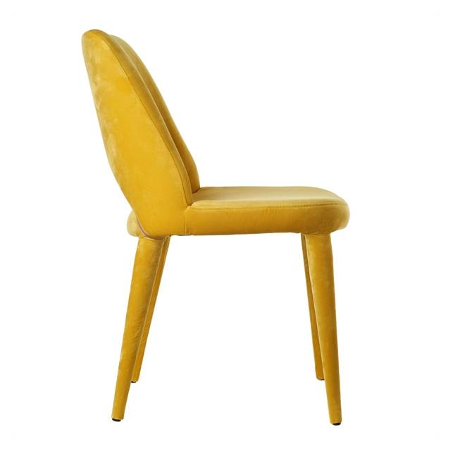Velvet Chair / Yellow - without arms