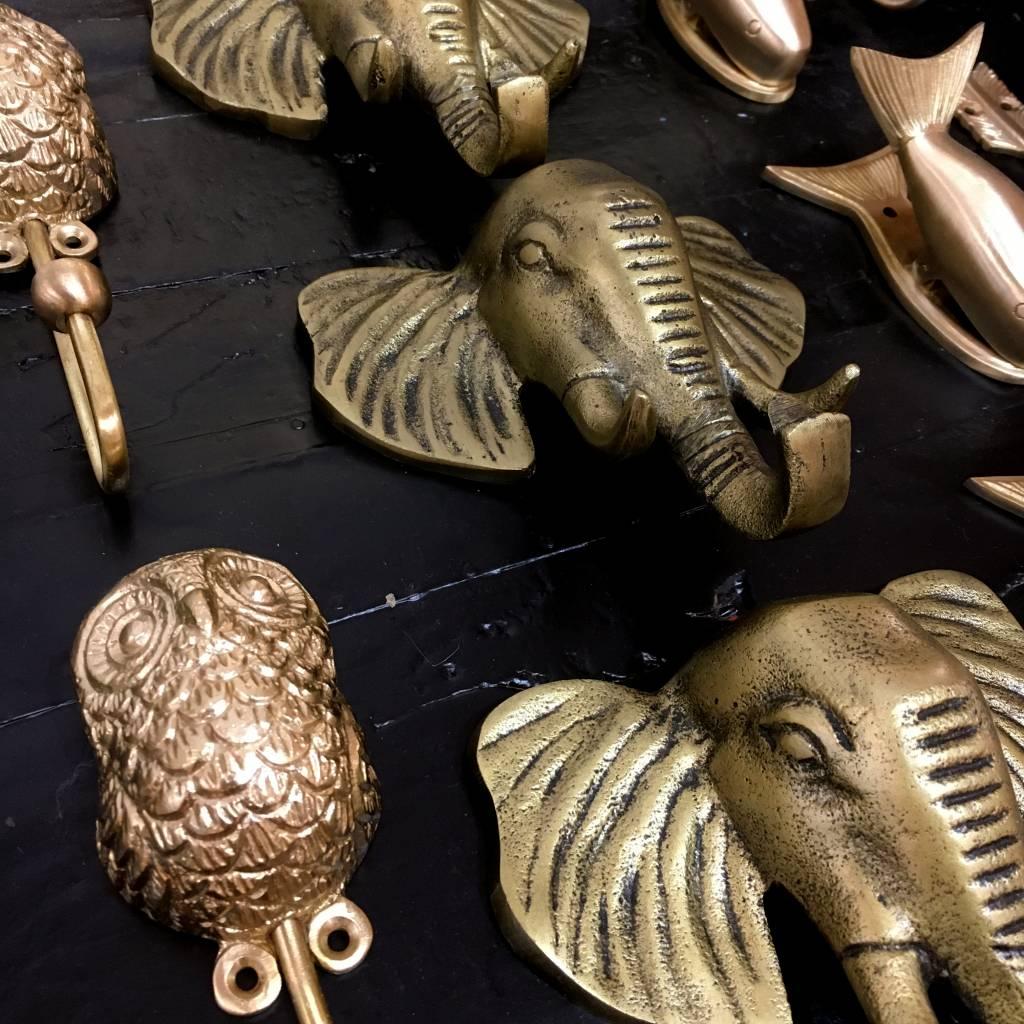 Hook / Elephant / Brass