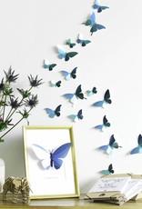 24 Papieren Vlinders / Blauw