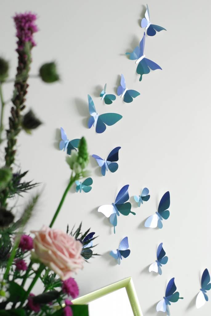 24 Paper Butterflies / Blue
