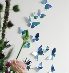24 Paper Butterflies / Blue