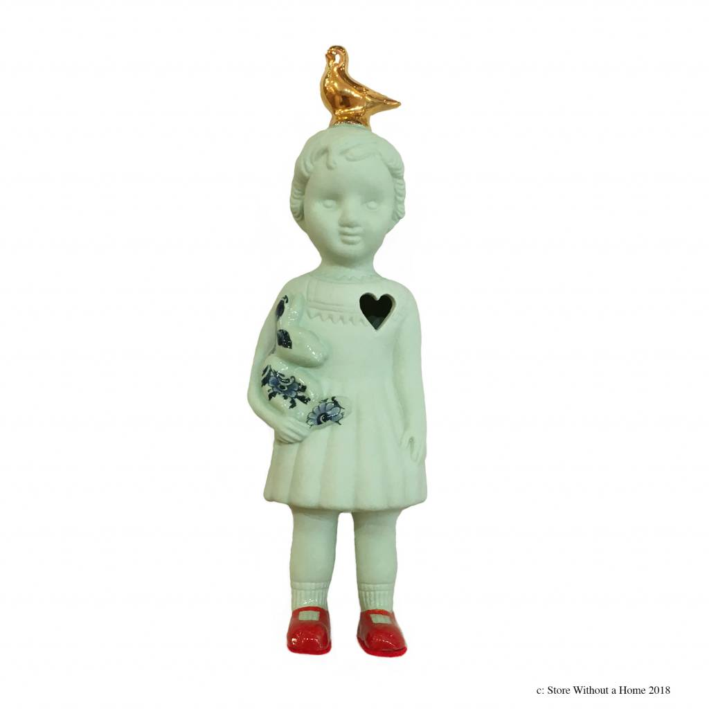 Pop met duif  / Groen
