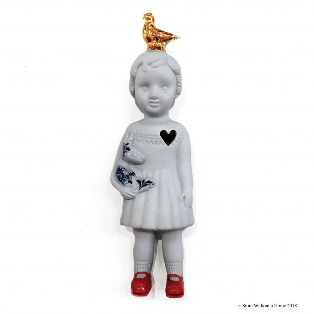 Doll with Pigeon / Grey