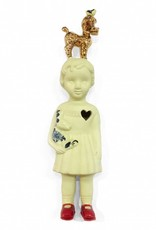 Doll With Poodle / Yellow