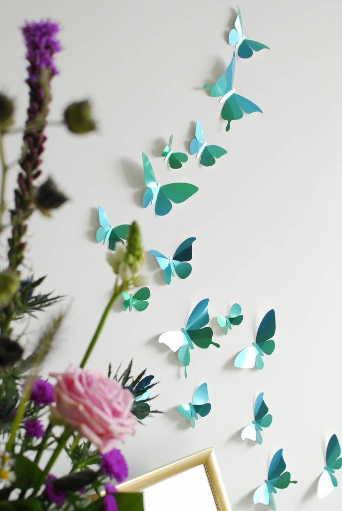 24 Paper Butterflies / Green